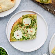 veggie naan pizza