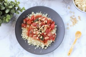 Tomato and White Bean Couscous