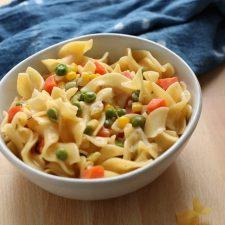 creamy veggies and noodles