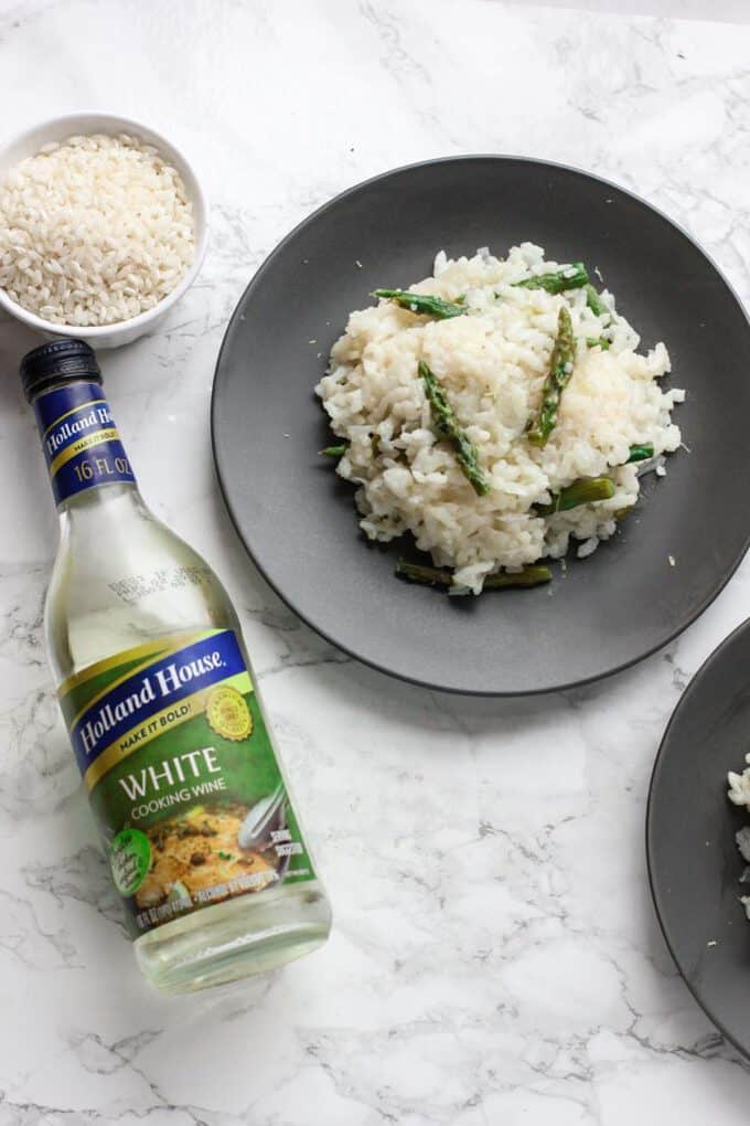 risotto cooking wine