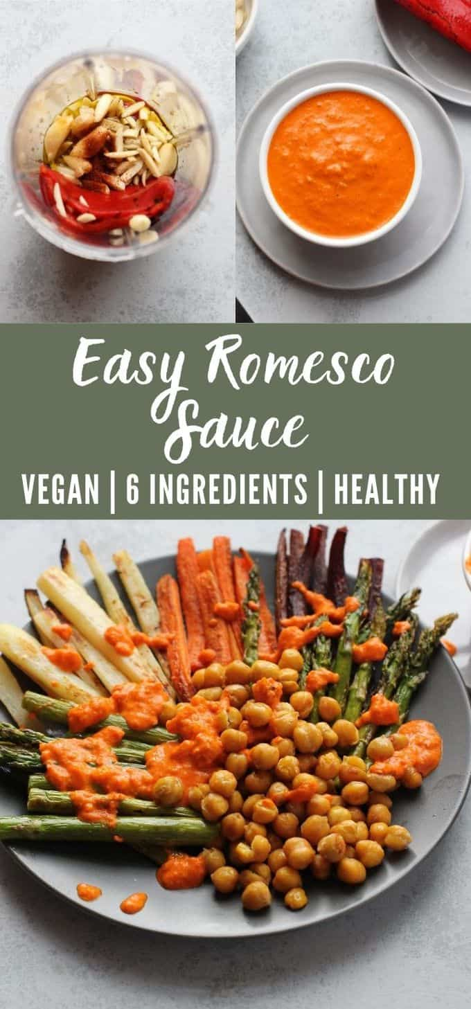 Romesco Sauce with Roasted Vegetables