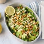 Vegan Caesar Salad with Crispy Chickpeas