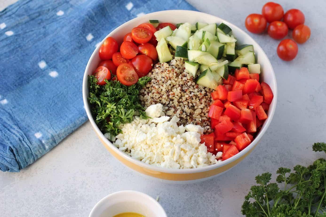 Greek Quinoa Salad I Heart Vegetables