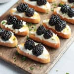 Blackberry Ricotta Crostini