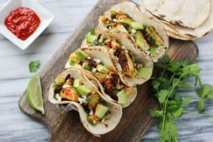 Spicy Brussels Sprout Tacos