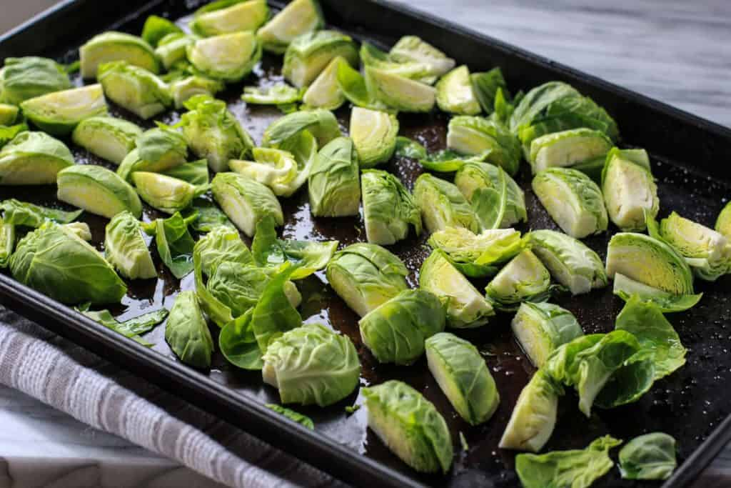 Brussels Sprouts on a pan