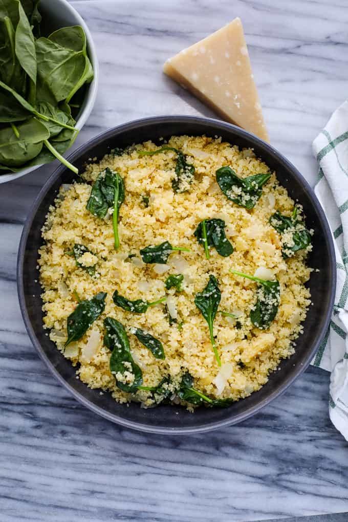 parmesan spinach couscous