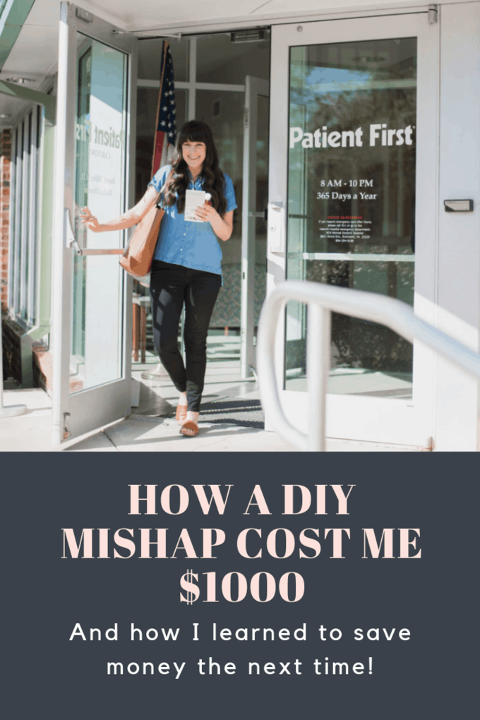 On the blog, I'm sharing my story of a DIY mishap that ended in 10 stitches and an expensive ER bill. Luckily, I learned about Patient First so the next time I need urgent care, I know where to go for more affordable treatment!