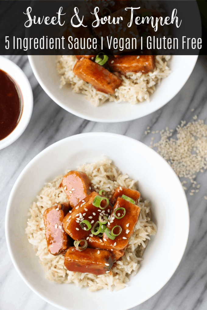 This sweet and sour tempeh is a healthy twist on your favorite takeout. The homemade sauce is just 5 ingredients and this recipe is ready in less than 30 minutes.