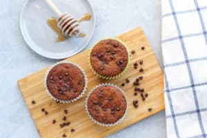 Almond Flour Applesauce Muffins