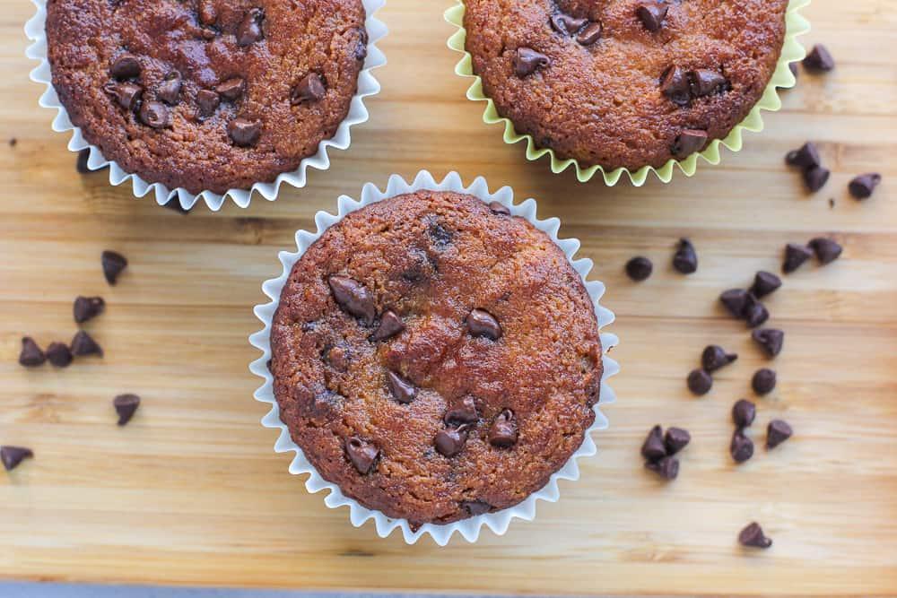 Applesauce Almond Flour Muffins