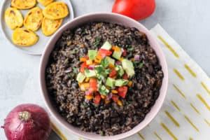 Instant Pot Cuban Black Beans and Rice