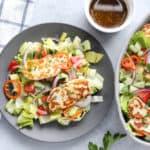 Easy Halloumi Salad
