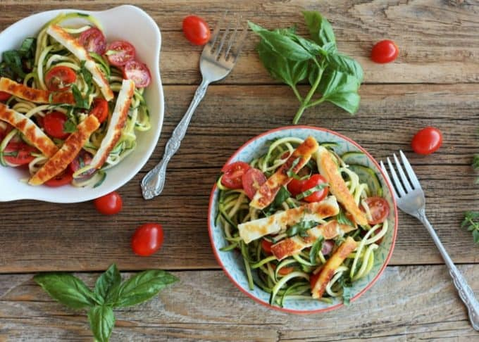zoodles with fried hallouni
