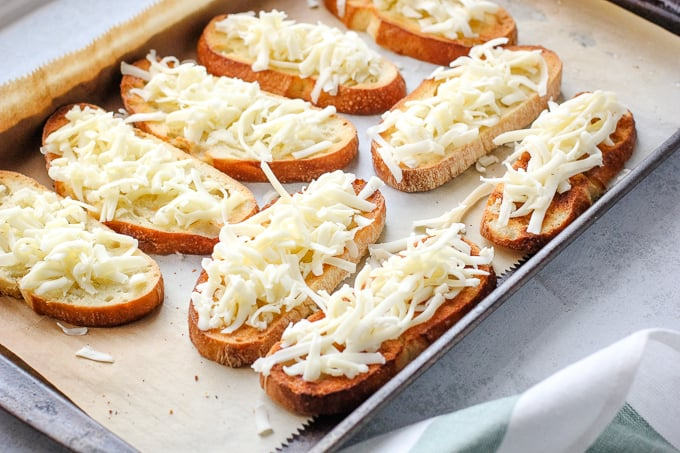 Baked bread with cheese