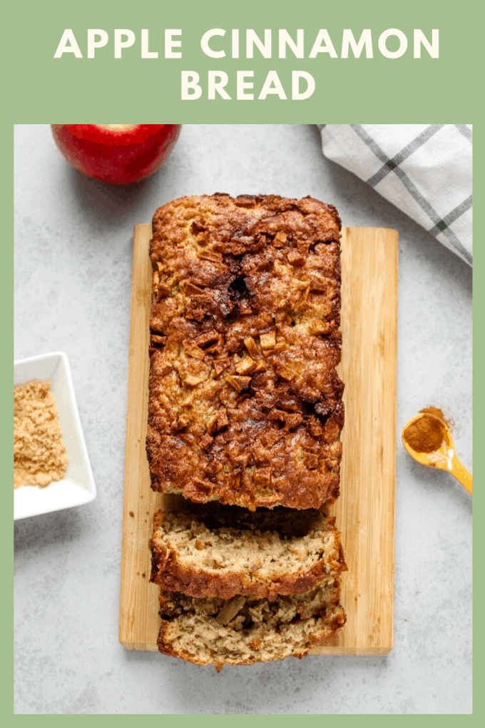 This apple cinnamon bread is a delicious fall treat! It\'s perfect with a cup of coffee for breakfast or you can add a scoop of ice cream to turn this into a dessert recipe!