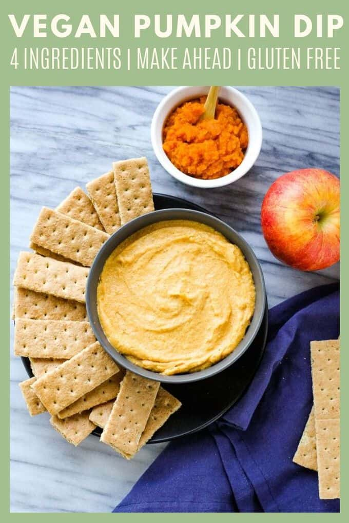 If you love pumpkin desserts, this vegan pumpkin dip is a must-make! You only need 4 ingredients for this simple dessert recipe. This pumpkin dip is the perfect party treat!