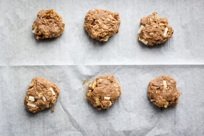 applesauce cookies on a tray