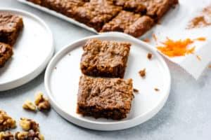 Healthy Carrot Cake Bars