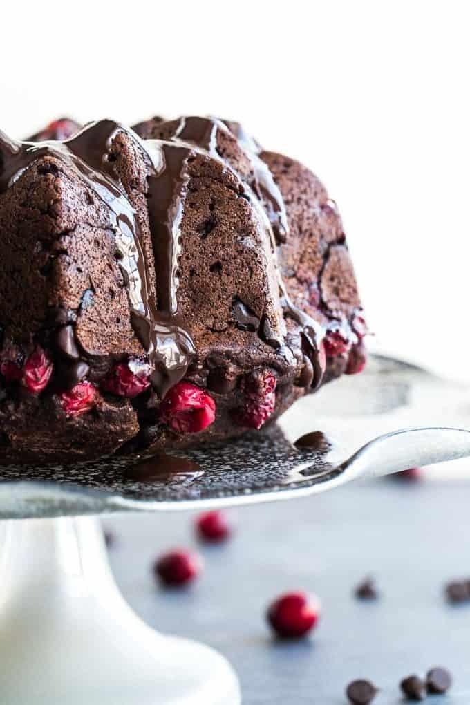Dark-Chocolate-Cranberry-Bundt-Cake