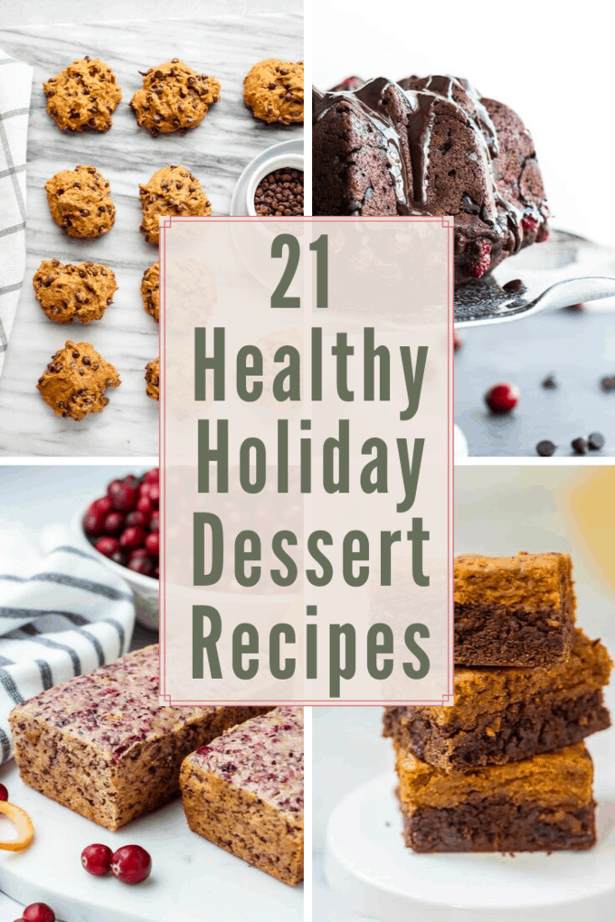 Looking for holiday treat ideas? Try one of these healthy holiday dessert recipes for sweets you can feel good about enjoying! From vegan and gluten-free desserts to low calorie or low-fat desserts, we have something for everyone!