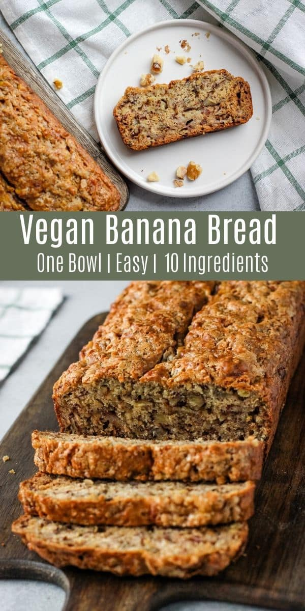 This one-bowl vegan banana bread is an easy way to transform brown bananas into a delicious breakfast or snack! If you want a healthy quick bread recipe, this banana bread is a winner! You can even make it oil free!