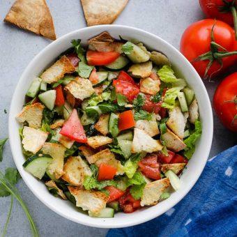 Easy Fattoush Salad