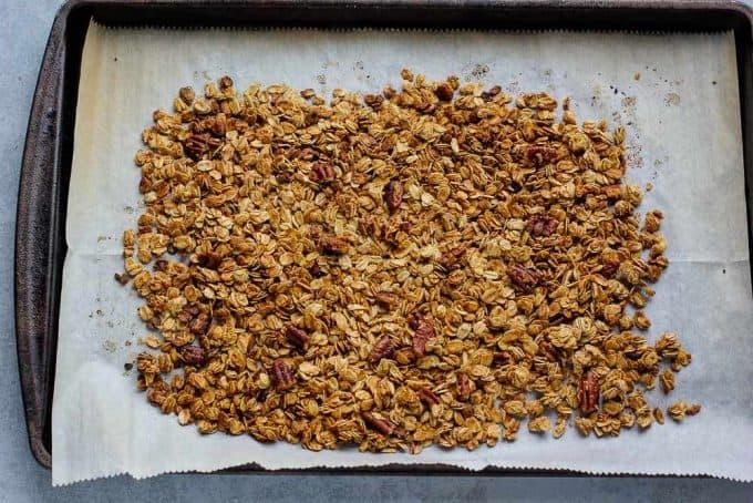 granola on a pan