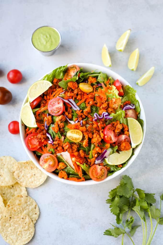 tempeh taco salad pinterest