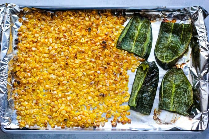 How to roast corn and peppers