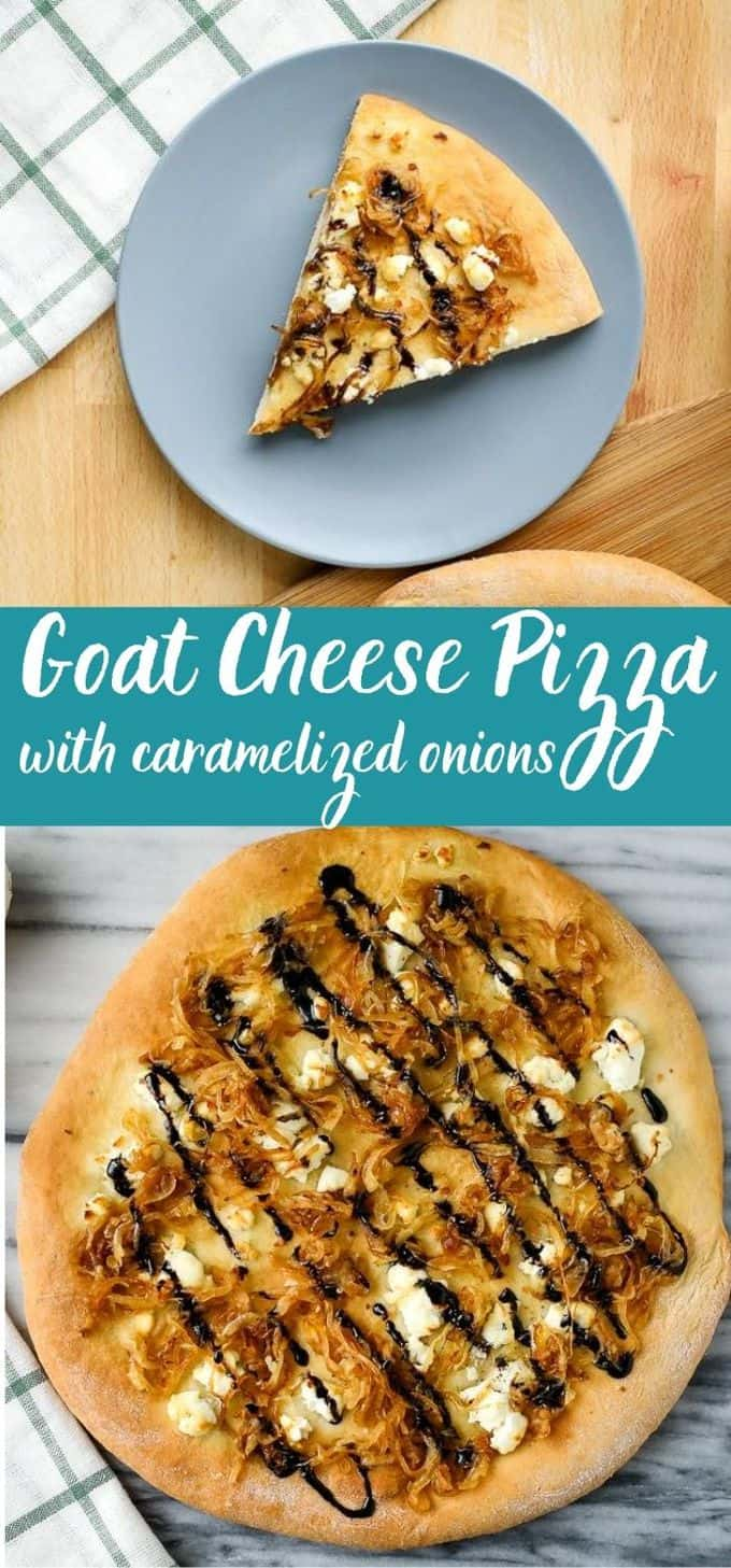 Goat Cheese Pizza with Caramelized Onion