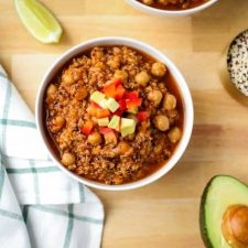 chickpea and quinoa stew