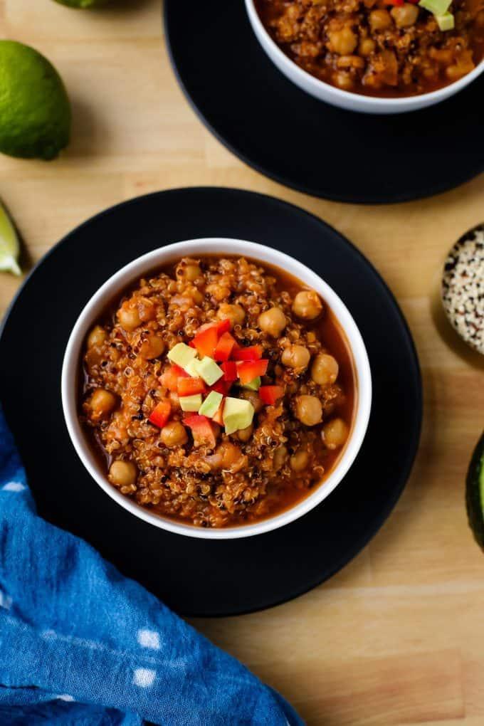 chickpea and quinoa stew