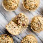 vegan cranberry muffin