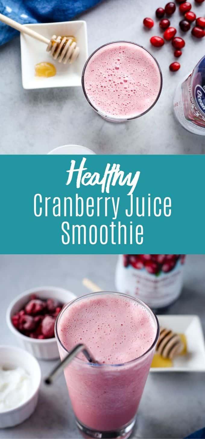 Cranberry Juice Smoothie