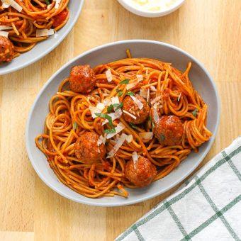 "One Pot Spaghetti and ""Meatballs"""