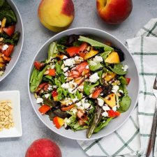 peach feta salad
