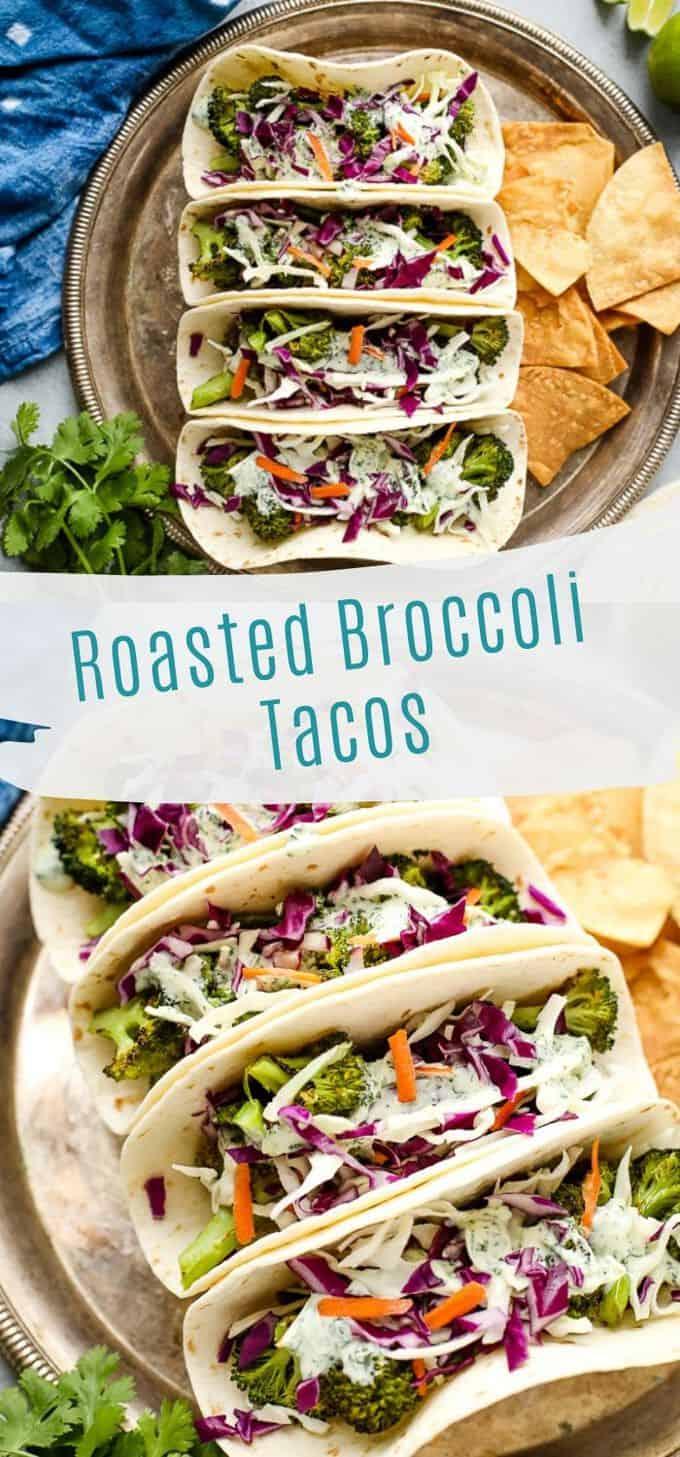 Vegan Broccoli Tacos