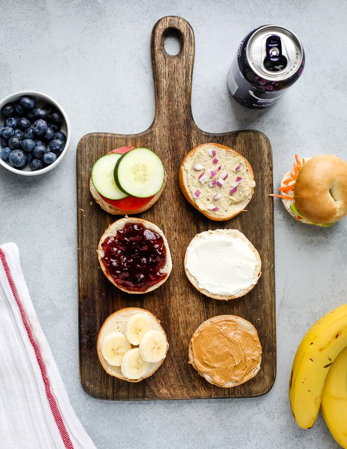 lunchbox bagel sandwiches
