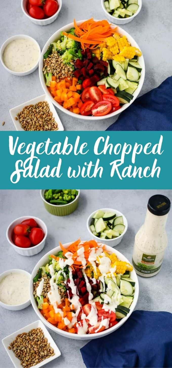 Vegetable Chopped Salad with Ranch