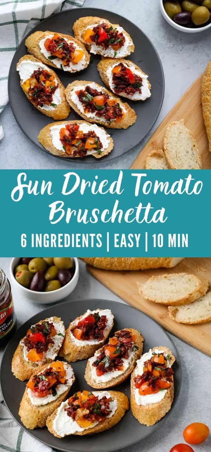 Sun-Dried Tomato Bruschetta