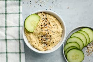 hummus in a bowl
