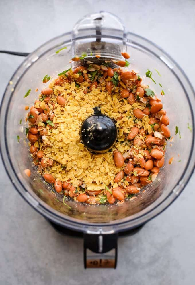 pinto beans in a food processor
