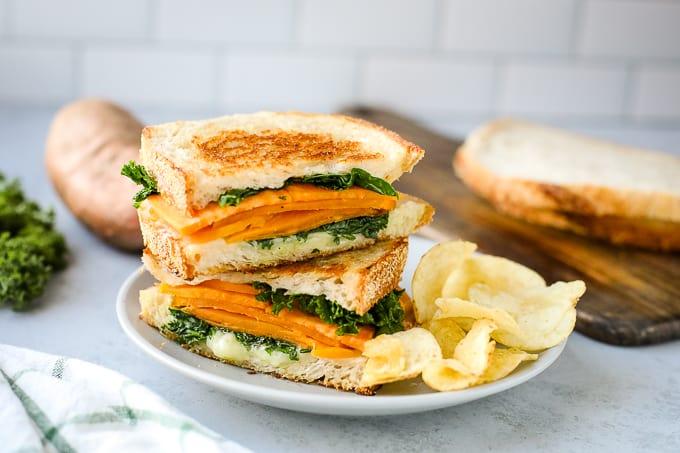 sweet potato grilled cheese sandwich