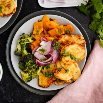 Sheet Pan Halloumi and Vegetables