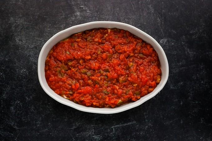 salsa in a pan