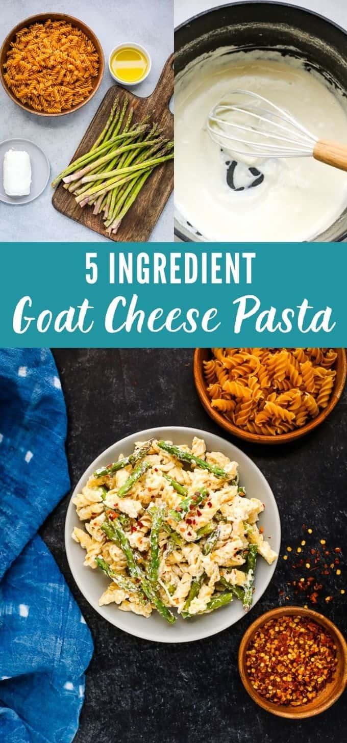 5 Ingredient Creamy Goat Cheese Pasta