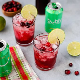 Cranberry Lime Mocktails