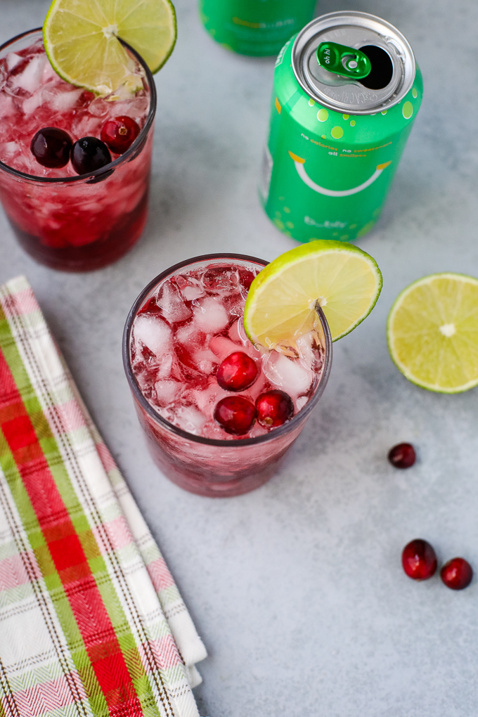 bubly cranberry mocktail