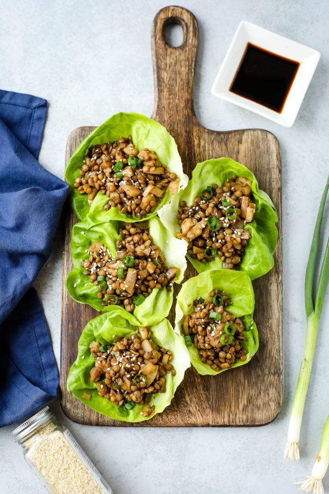 lettuce wraps with lentils